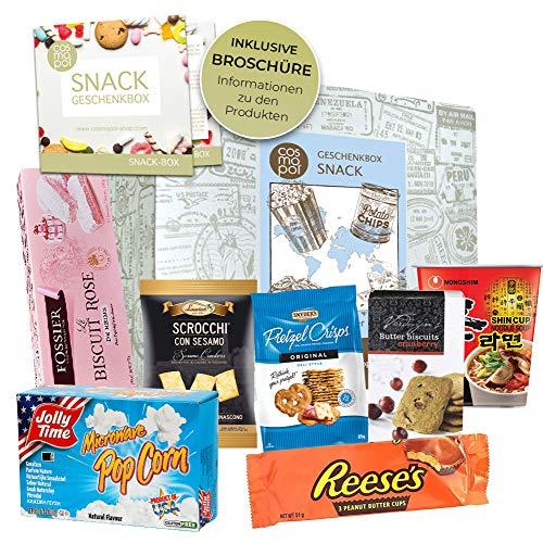 Geschenk Set Snack Box   Geschenkset Für Naschkatzen Männer Frauen   Snacks Und Süßigkeiten Aus Aller Welt   Besondere Geschenkidee I Probierset