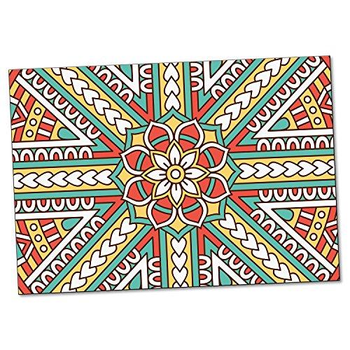 """ADDIES Postkarte """"Mandala"""", 6 teilig, 147mm x 104mm, 300g Karton, bedruckte Postkarte mit schönem spirituellen Motiv, Inspiration Motiv-4"""