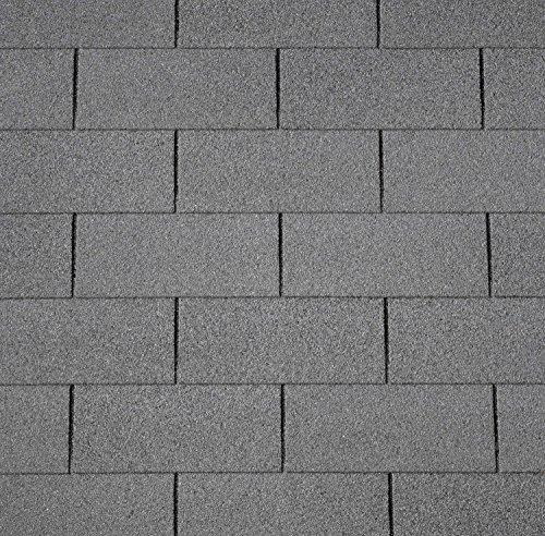 Dachschindeln RECHTECK 3 m² mit Glasvlieseinlage Bitumenschindeln Schindeln Dacheindeckung Gartenhaus Rechteckschindeln (Schwarz)