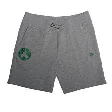 New Era NBA Team App Pop Logo Short Kurze Hose BOSCEL Linie Boston Celtics, Unisex Erwachsene, Grau (LGH)