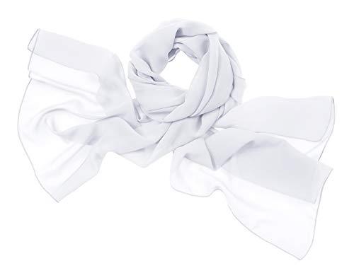 bridesmay Chiffon Elegant Stola Schal für Kleider in verschiedenen Farben White M