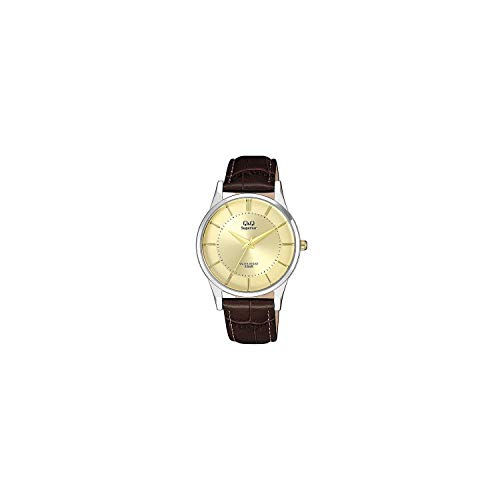 QQSUP - Q&Q Superior horloge S308J300Y für Herren - Leder