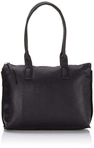 BREE Toulouse 3, black smooth, doub. shoulder 334909003 Damen Schultertaschen 32x11x22 cm (B x H x T), Schwarz (black smooth 909)