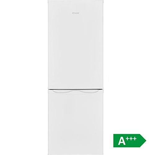 Bomann KG 322 Kühl-Gefrier-Kombination / A+++ / 143 cm / 110 kWh/Jahr / 122 L Kühlteil / 43 L Gefrierteil / justierbare Standfüße / weiß