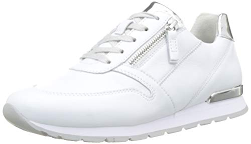 Gabor Shoes Damen Comfort Basic Sneaker, Weiss/Silber(Ring) 50, 42 EU