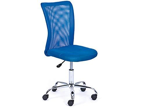 Inter Link Kinderdrehstuhl Bürostuhl Jugenddrehstuhl Schreibtischstuhl Drehstuhl Metall Bezug Mesh Blau