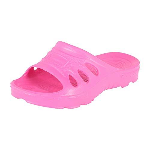 KREXUS 21 - Kinder - Damen - Herren - Badeschuhe - Badelatschen - Badesandalen - Schwimmbadschuhe - VIELE Farben (Pink, 28, XK0211-28)