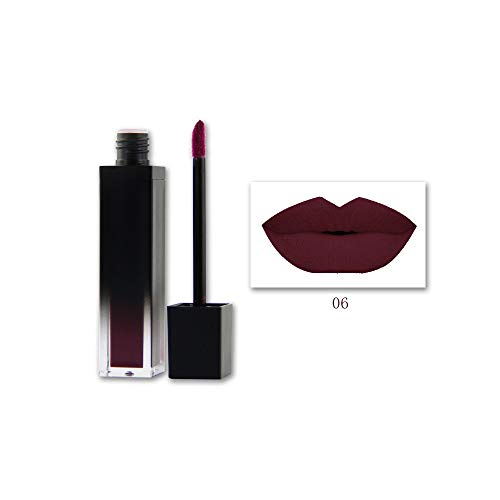 Rifuli® 1PC Shiny Matte Lipstick Waterproof Pigment Brown Nude Long Lasting Lipstick lipgloss
