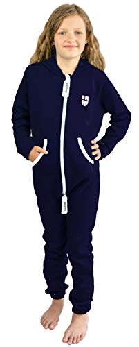 Gennadi Hoppe Kinder Jumpsuit Overall Jogger Trainingsanzug Mädchen Anzug Jungen Onesie,blau,11-12 Jahre