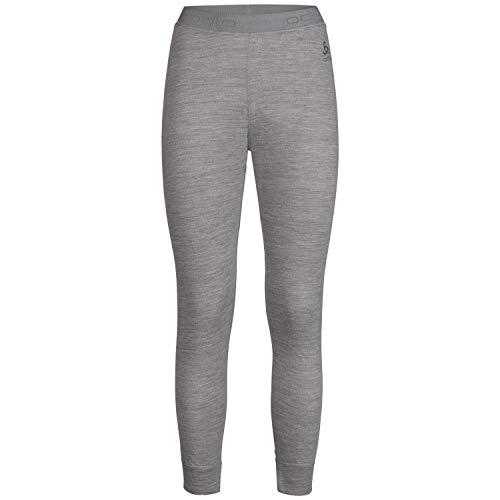 Odlo Damen SUW Bottom Pant Natural 100% Merino Unterhose, Grey Melange, S