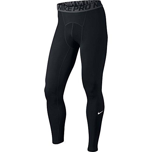 NIKE Herren Lange Unterhose Pro Cool, schwarz (Schwarz/Dunkelgrau/Weiß),L