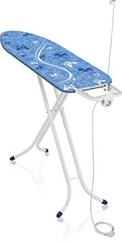 Leifheit Bügeltisch Air Board M Compact Plus für Dampfbügeleisen, ultraleichtes Bügelbrett, Dampfbügeltisch für beste Ergebnisse in kurzer Zeit