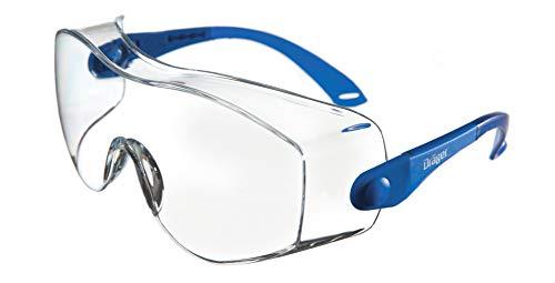 Dräger Schutzbrille X-pect 8120 | Einstellbare Überbrille auch für Brillenträger | Für Baustelle, Labor, Werkstatt und Fahrrad-Fahren | Leicht, klar und kratzfest | 3 St.