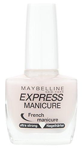 Maybelline Express French Manicure, Nr. 7 Pastel, Nagelhärter und Farblack in einem, stärkt brüchige Nägel, verleiht einen zarten Schimmer, in pastelligem rosa, 10 ml