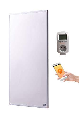 Könighaus Fern Infrarotheizung + Thermostat und App mit Smart Home Lösung Temperatur und Programmierung über Handy app steuerbar ✓GS Tüv (800 Watt)