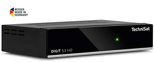 TechniSat Digit S3 HD hochwertiger digital HD Sat Receiver (HDTV, DVB-S/S2, HDMI, USB, vorinstallierte Programmlisten, Unicable tauglich) schwarz