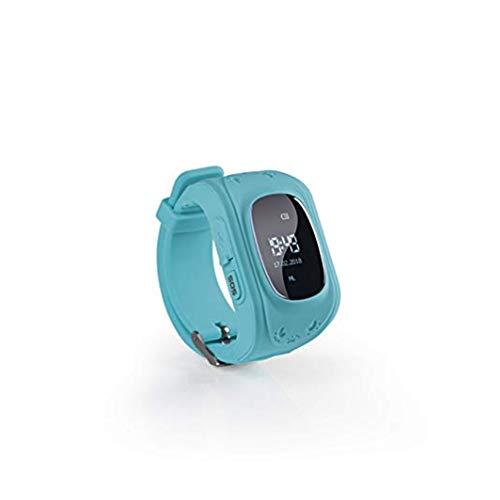 Kinder Smart Watch | Smartwatch| Armbanduhr | GPS, Telefon, Sprachnachrichten, Standortlokalisierung per App, Ortung, Tracker | Kein Handy notwendig - verwendbar mit Micro SIM Karte (blau)