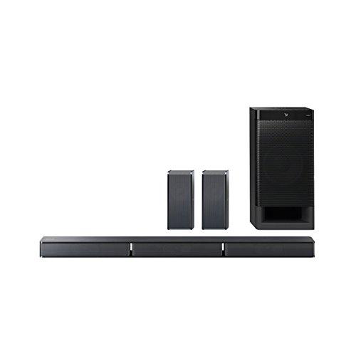 Sony HT-RT3 5.1-Kanal Soundbar (600 W Ausgangsleistung, NFC, Bluetooth, Dolby Digital, HDMI, USB, optischer Digitaleingang incl. Subwoofer und Rear Lautsprecher) schwarz