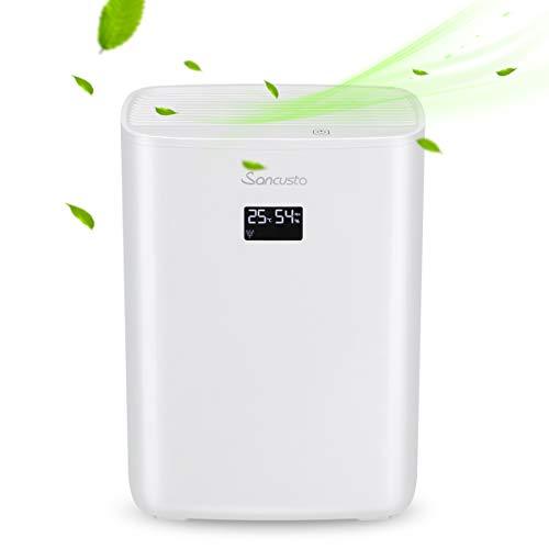 Sancusto Luftenfeuchter luftreiniger 2 in 1, Raumentfeuchter mit 2,5L Wassertank, super leiser, perfekt gegen Feuchtigkeit, Schmutz und Schimmel, 2 Jahre Garantie