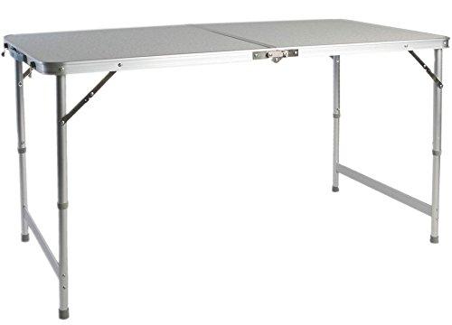 LINDER EXCLUSIV Picknicktisch Alu ausklappbar mit Tragegriff 120 x 60 x 70cm