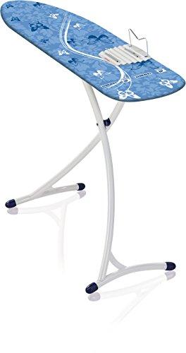 Leifheit Bügeltisch Air Board XL Ergo mit ultraleichter Bügelfläche, Bügelbrett für reduzierte Bügelzeit, Dampfbügeltisch mit stabilem Gestell