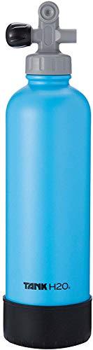 TankH2O Tauchflasche Vacuum Insulated Wasserflasche: Großes Geschenk und Zubehör für Taucher | Hält 700 ml | Lebensmittel-Grad-Edelstahl-Flasche, BPA-frei Cap, Silikon-Boot (blau)