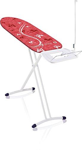 Leifheit Bügeltisch Air Board Express L Solid, ideal für eine Dampfstation, Bügelbrett mit Baumwollbezug, Dampfbügelbrett mit ultraleichter Bügelfläche