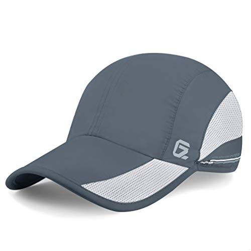 GADIEMKENSD Quick Dry Sports Hat Lightweight Breathable Soft Outdoor Running Cap Baseball Caps for Men (Deep Gray)