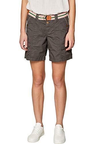 edc by ESPRIT Damen 039CC1C002 Shorts, Grün (Khaki Green 350), W36(Herstellergröße: 36)