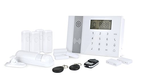 zoomyo GSM Funk Alarmanlagen-Set Z-ALARM-009 inkl. 9-tlg. Zubehör - bis zu 98 Sensoren! Touchbedienfeld und RFID- / Kontaktchip