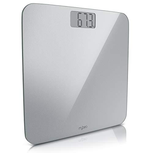 MyBeo - digitale Personenwaage im Slim Design   Körperwaage   6 mm Sicherheitsglas großes LCD-Display max. 180 kg Messauflösung 0,1 kg automatisches Ein- und Ausschalten   weight scale kg + lb