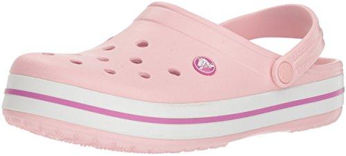 crocs Unisex-Erwachsene Crocband U Clogs, Pink (Pearl Pink/Wild Orchid), 41/42 EU