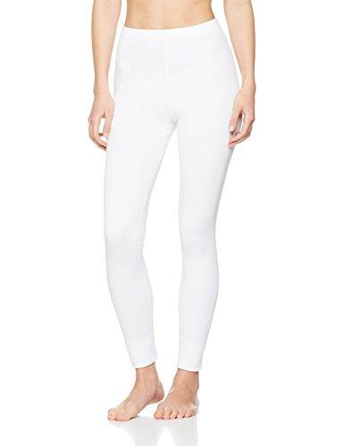 Iris & Lilly Damen Lange Thermo-Unterhose 2er Pack, Weiß (White), 44 (Herstellergröße: XL)