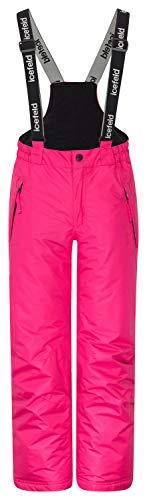 icefeld Skihose/Schneehose wasserdicht für Mädchen, pink in 134