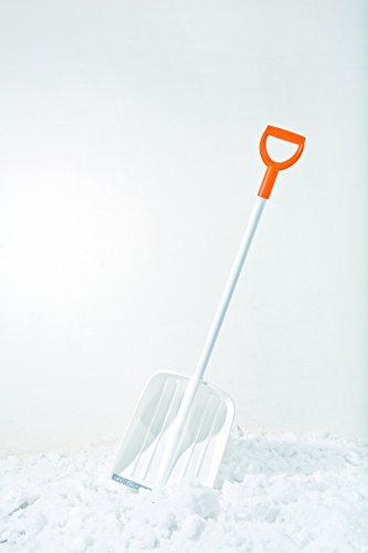 Fiskars Schneeschaufel 36 cm Kunststoff mit Alukante, weiß 141002