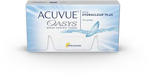 ACUVUE OASYS Kontaktlinsen - 2-Wochen-Linsen für Tag und Nacht mit -2.75 dpt und BC 8.4 - UV Schutz, Austrocknungsschutz & extrem hoher Tragekomfort - 12 Linsen