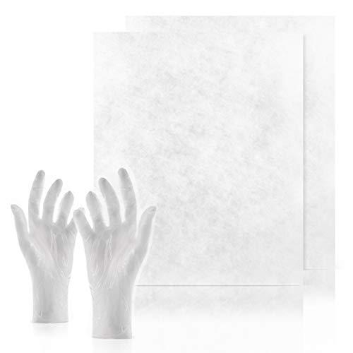 C-lean House 2 Stück Dunstabzugs Filter Comfort - Packung incl. Wechselhandschuhe Individueller Zuschnitt, 47 x 57 cm