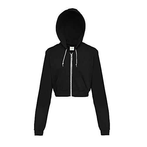 Just Hoods - Bauchfreie Kapuzenjacke für Damen / Jet Black, S