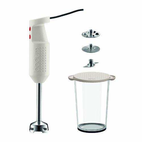 Bodum BISTRO elektrischen Mixer Stick mit Zubehör gebrochenes weiß