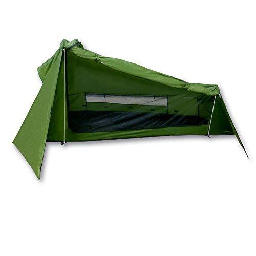 mapuera - Ultraleichtes Trekkingzelt Trek Santiago - grün, 1,25kg, kleines Packmaß, auch mit Trekkingstöcken aufstellbar - das Leichtzelt für 1 Person