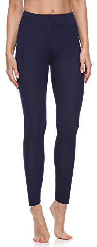 Merry Style Damen Lange Leggings aus Baumwolle MS10-198 (Dunkelblau, XXL)