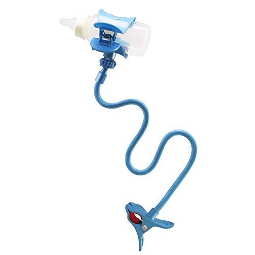 Baby Flaschenhalter Bracket -2017 Universal-Säuglingsbett Cup Clip Halter Faule Bracket Flexible Lange Arme Stehen Für Bett Kinderwagen,Blue