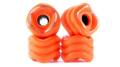 SHARKWHEEL Bambus Skateboards Shark Sidewinder Skateboard 78A Räder (Set von 4), 70mm, Orange