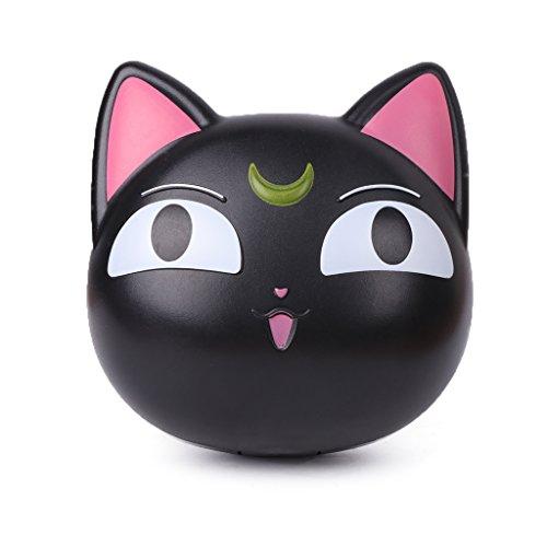 Haorw Cartoon Niedlich Katze Design Kontaktlinsenbehälter (Schwarz)