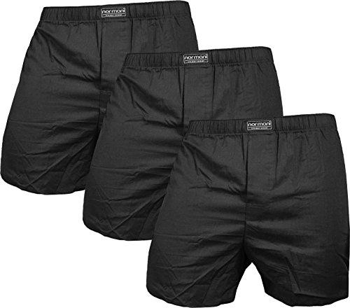 normani 6 Boxershorts 100% Baumwolle - Schön kariert, gewebt US Style Webboxer in modischen Farben und Kombinationen für den Herren dem Jungen, Unterhose aus gewebtem Material Farbe Schwarz Größe XL