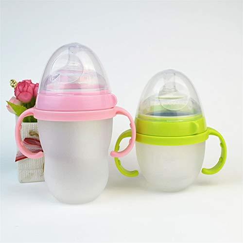 Huayang 5 stücke baby einfarbig rutschfeste flasche griff fütterung flasche für comotomo Zufällige Farbe
