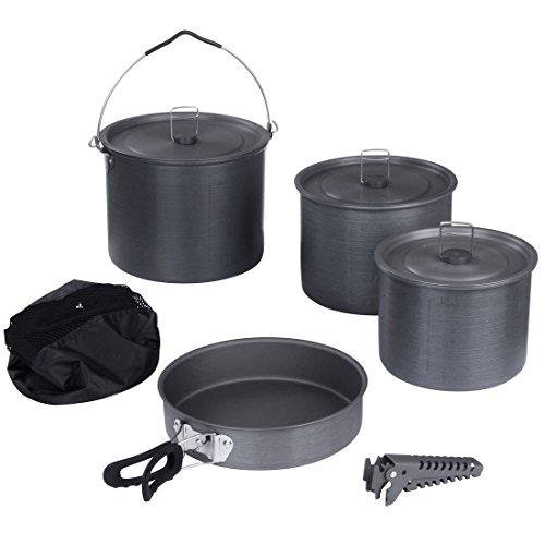 10T Topf Pfannen Set Ranger VI+ Camping Kochset für 6 - 10 Mann 8 tlg. Kochgeschirr im Netzbeutel