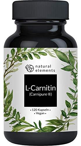 L-Carnitin 3000 - Einführungspreis - 120 Kapseln - Premiumrohstoff: Carnipure® von Lonza - Laborgeprüft, hochdosiert, vegan & hergestellt in Deutschland