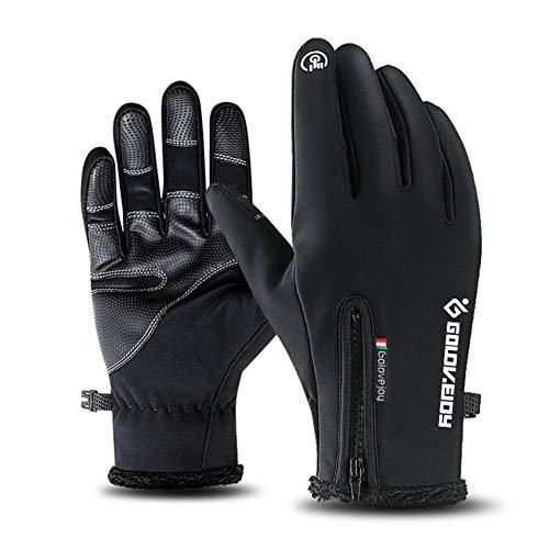 aediea Handschuhe für Herren und Damen, Fleece, Touchscreen, für Reiten, Snowboard, Sport, Outdoor-Aktivitäten, Schnee, Skifahren, Winddicht, wasserdicht, Klettern, Motorradhandschuhe XXL,Black