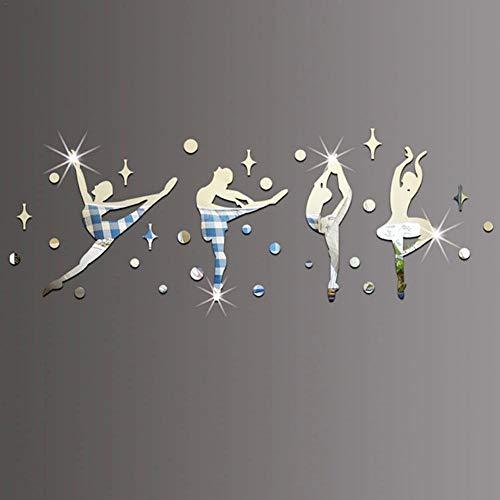 Campinery Balletttänzerin Silhouette Wandtattoo Für Mädchen Mit Verschiedenen Ballerina-Posen Dekorative, Abnehmbare DIY-Vinyl Tanzmotiv Im Wohnzimmer, Tanzstudio-Wandbild Für Mädchen Im Kindness